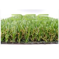 Rectangle Evergreen Artificial Grass Garden PE Material High Color Saturation Manufactures