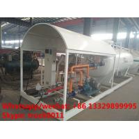 2017S customized 8m3 4tons mobile skid lpg tank for sale,cheapest price skid lpg tank plant with single digital scale Manufactures