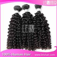 China Nature Hair 10-30 Inchs deep Curly Virgin Peruvian Hair on sale