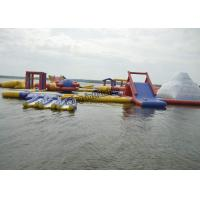 PVC Inflatable Commercial Water Splash Park , Floating Water Playground Equipment