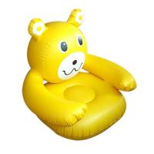 Yellow Cartoon Plastic Tarpaulin Sofa Modern Inflatable Furniture Fireproof Manufactures