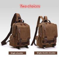 Dual Use One Shoulder Strap Backpack, Double Shoulders Stylish Laptop Backpack With Zipper Manufactures
