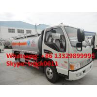 JAC 4*2 LHD mini 5 cubic meters refuler truck for sale, factory direct sale JAC 5 cubic meters oil dispensing truck Manufactures