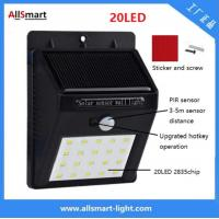 Buy cheap IP65 PIR Solar Lights Motion Sensor 20LED 300lumens 4W Solar Garden Wall Light for Landscaping and Illumination from wholesalers