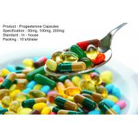 Natural Progesterone Capsules 100Mg 200Mg Steroid Based Hormones Manufactures