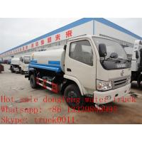 cheapesr price Dongfeng XBW LHD 4*2 5,000L water tank for sale, Factory sale good price dongfeng 5m3  cistern truck Manufactures