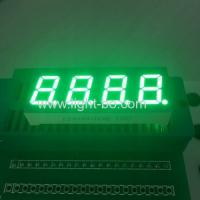 Four Digit 7 segment Numeric LED Display 0.4 inch pure green for temperature control Manufactures