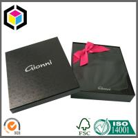 Luxury Black Color Print Paper Gift Box for T Shirt; Garment Paper Packaging Box Manufactures