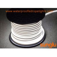 China Neutral White  60D LED NEON Rope Light Waterproof For Auditorium Walkway on sale