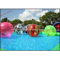Multicolor Walk On Water Inflatable Human Hamster Ball For Water Park Manufactures