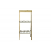 3 Layer BSCI 10KG Bamboo Bathroom Storage Shelf And Rack Manufactures