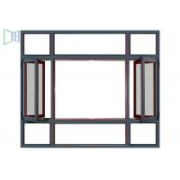 Durable Horizontal Casement Window , Residential Casement Windows With Built In Net Manufactures
