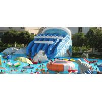 PVC tarpaulin Outdoor  Splash Mat Inflatable Water Park  summer inflatable water park Manufactures