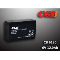CB6120 charging high capacity AGM Lead Acid Battery 6V 12AH Anti Erosion Alarm System Manufactures