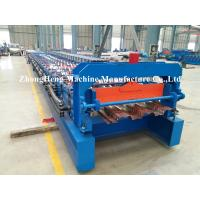 1.2mm Thickness steel Decking floor roll forming machine with high stengthen power Manufactures