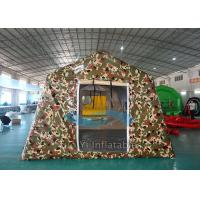 Big Camouflage Wall Inflatable Military Tent 12 Person Heat Sealed Manufactures