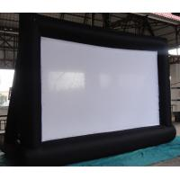 Quality Special White Material Inflatable Blow Up Movie Screen For Outdoor Lawn / Park for sale