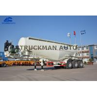 China 35 Cbm Cement Tanker Trailer 3 Axles Tank Body Thickness 3mm With Wechai Motor on sale