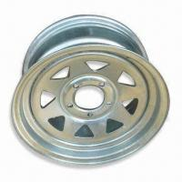 Steel Trailer Rim with 5 Bolt Holes and 1,100lbs Loading Capacity Manufactures