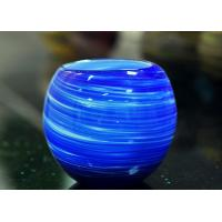 Luxury Hand Made Coating Candle Holders Glass For Decoration , Round Ball Shape Manufactures