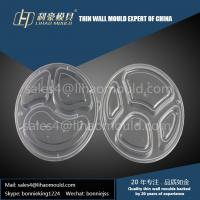 PP transparent three or four compartment lunch box mould and lid mould