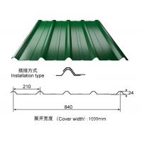 China ISO9001 Color Coated Steel Roofing Sheet 3000 - 12000mm Length Optional on sale