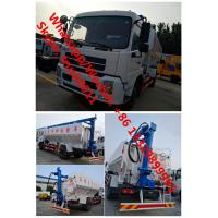Botton price customized Dongfeng 4*2 RHD 20m3 animal feed delivery truck for sale, 10tons poultry feed pellet truck