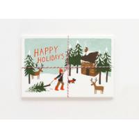 Offset Printing Cardstock Christmas Cards Stock With Gloss Lamination Surface Manufactures