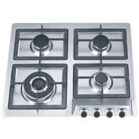 Kitchen Built In Stainless Steel Gas Hob With Cast Iron Pan Supports Manufactures