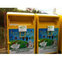 Large Collection Outside Clothing Bin Bin For Clothes , Clothing Drop Box Manufactures