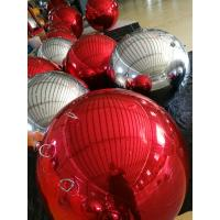 PVC Red Inflatable Mirror Ball , Christmas Inflatable Decorations Balloon For Event Manufactures