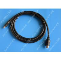 Gold Plated High Speed HDMI Cable , Black Heavy Duty Round HDMI 1.4 Cable Manufactures