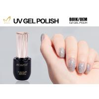 Eco Friendly Glitter Gel Nail Polish For LED Lamp 30 Seconds Cure Time Manufactures