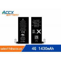 ACCX brand new high quality li-polymer internal mobile phone battery for IPhone 4G with high capacity of 1430mAh 3.7V Manufactures