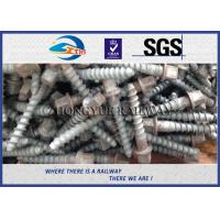 Stainless Steel Rail Screw Spike 5.6 Grade For Railway Fasteners Manufactures