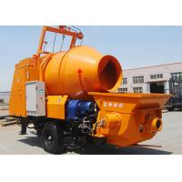 Trailer Mounted Concrete Mixer Pump 40m3/H Capacity For Hydraulic Engineering Construction Manufactures