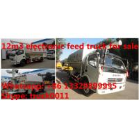 Quality 2018s dongfeng 12m3 livestock and farm-oriented feed transported truck for sale, wholesale best price bulk feed truck for sale
