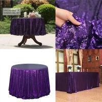 China Rose Gold Sequin Tablecloth Glitter Round Rectangular Embroidered Sequin Table Cloth For Wedding Christmas Decoration on sale