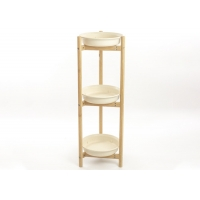 Bamboo And Plastic 86cm Height Multi Tier Shelf For Living Room Manufactures