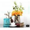 Blue Decorative Solid Glass Vases / Handmade Flower Vase For House / Hotel Manufactures