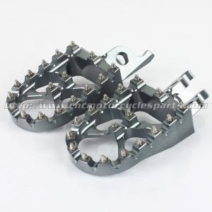 57mm Dirt Bike Passenger Foot Pegs Sharp Teeth Hardened Steel Manufactures