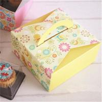 Quality Customized Take Away Cake Cardboard Boxes Folding With Handle Full Color for sale