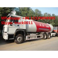 SINO TRUK HOWO 336hp 25cbm lpg gas delivery truck for sale, best price HOWO 4*2 LHD 10tons lpg gas filling truck Manufactures