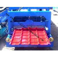 Roofing Sheet Metal Corrugated Roll Forming Machine / Circular Arc Glazed Tile Making Machines Manufactures