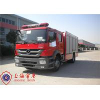 Quality Six Seats Foam Fire Truck Benz Chassis Wheelbase 4500mm With Air Conditioner for sale