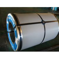 DIN Regular Spangle Color Coated Coil Steel Skin Passed DX51D , Thickness 0.17mm - 1.20mm Manufactures