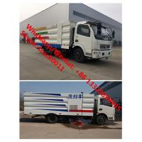2018s best price Customized dongfeng 4*2 road sweeping and washing vehicle for sale, hot sale street cleaning truck Manufactures