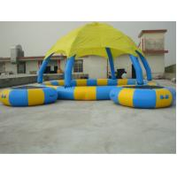 Colorful 0.9mm PVC Tarpaulin Inflatable Family Pool with Tent For Amusement Manufactures