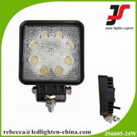 Whosale price 6500k 10v-30v led automotive work light 24w cree led work light Manufactures
