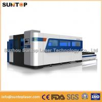 Quality 2000W Fiber Laser Cutting machine with exchanger working table , laser protection cabinet for sale